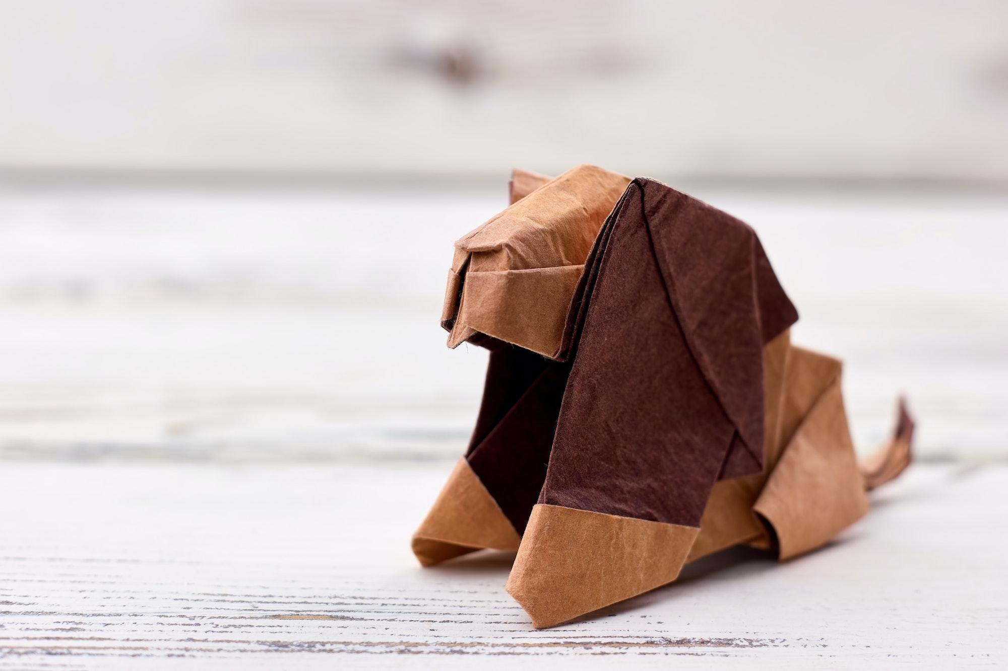 Origami lion 3D model